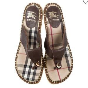 Burberry Thong Wedge Sandal